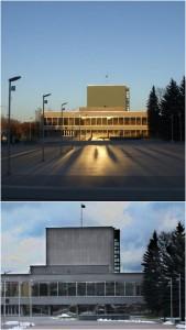 2010 m. Juozo Miltinio dramos teatro pastato Panevėžyje, rekonstravimo darbai, PO (rekontrukcijos viršųje), PRIEŠ (apačioje)